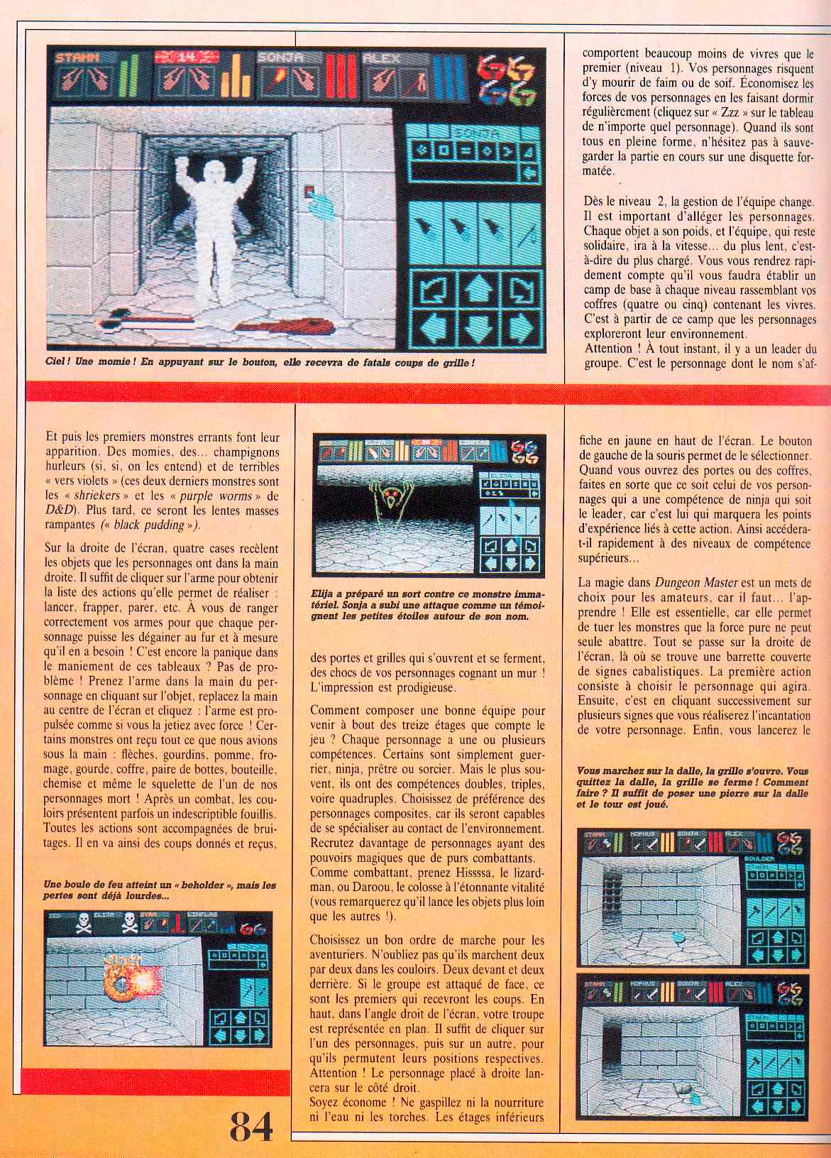 Dungeon Master guide published in French magazine 'Jeux et Stratégies', Issue #51, June 1998, Page 84