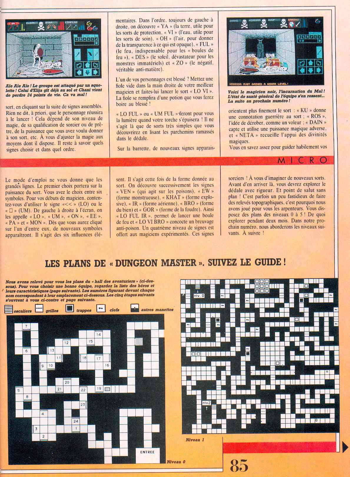 Dungeon Master guide published in French magazine 'Jeux et Stratégies', Issue #51, June 1998, Page 85