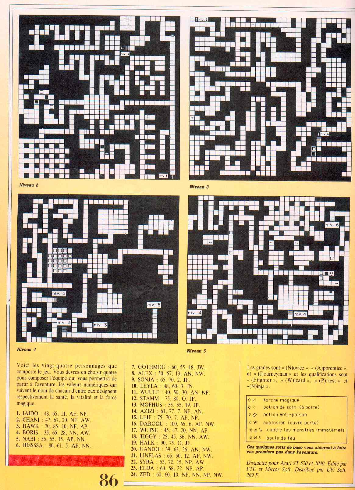 Dungeon Master guide published in French magazine 'Jeux et Stratégies', Issue #51, June 1998, Page 86