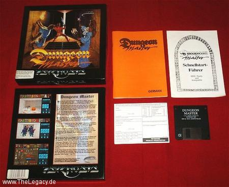 Dungeon Master for PC (German, Psygnosis) - Packaging