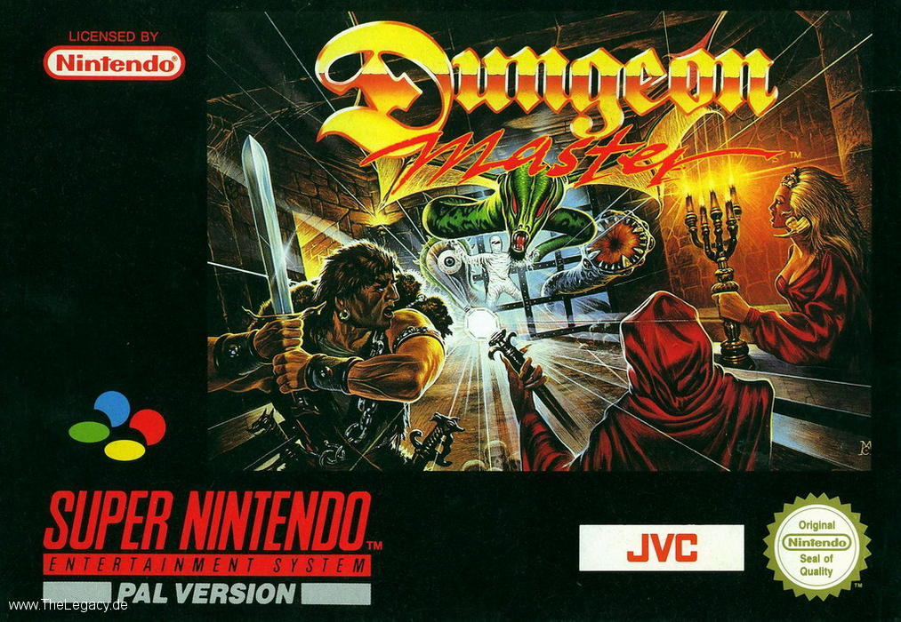 Dungeon Master for Super NES - Europe - Box Front