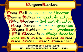 Dungeon Master for Amiga version 3.6 Screenshot - Credits