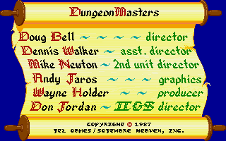 Dungeon Master for Apple IIGS Screenshot - Credits