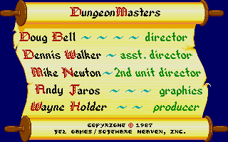 Dungeon Master for Atari ST Screenshot - Credits