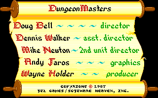 Dungeon Master for FM-Towns Screenshot - Credits (English)