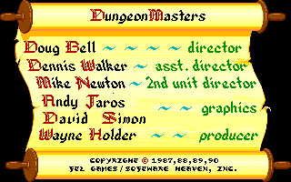 Dungeon Master for PC Screenshot - Credits