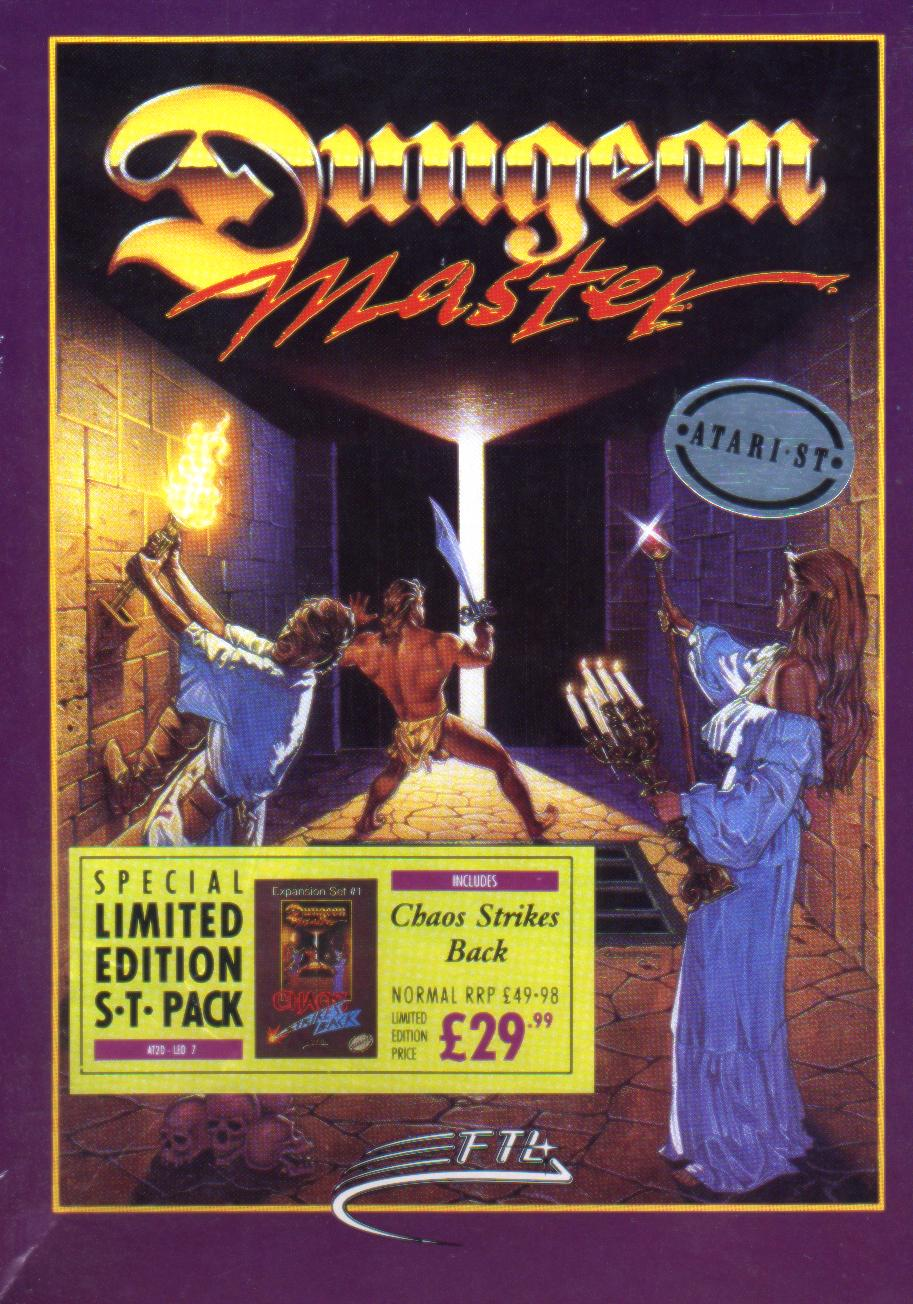 Dungeon Master and Chaos Strikes Back for Atari ST (Bundle, UK, MirrorSoft) - Box Front