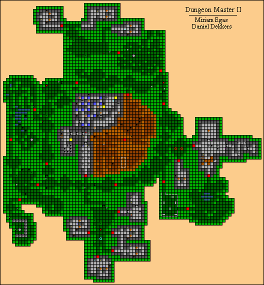 Dungeon Master II Map by Miriam Egas and Daniel Dekkers - Ground Level
