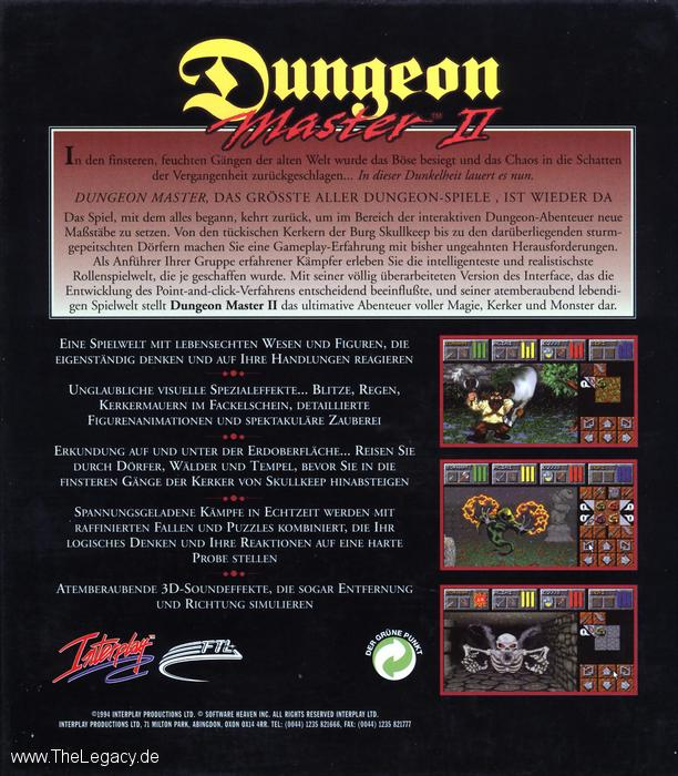 Dungeon Master II for Amiga (German) - Box Back