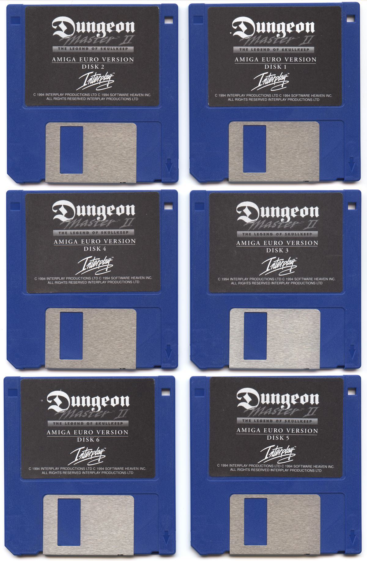 Dungeon Master II for Amiga Floppy Disks (German)