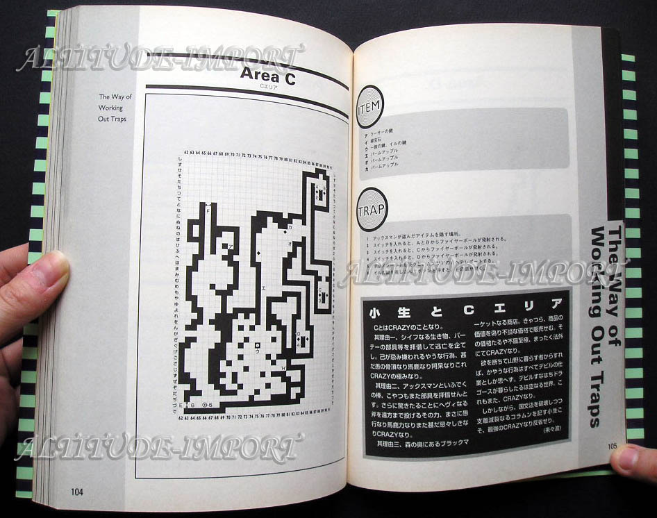 Hint Book - Official Guide of Dungeon Master II Skullkeep (Japanese) Sample 2