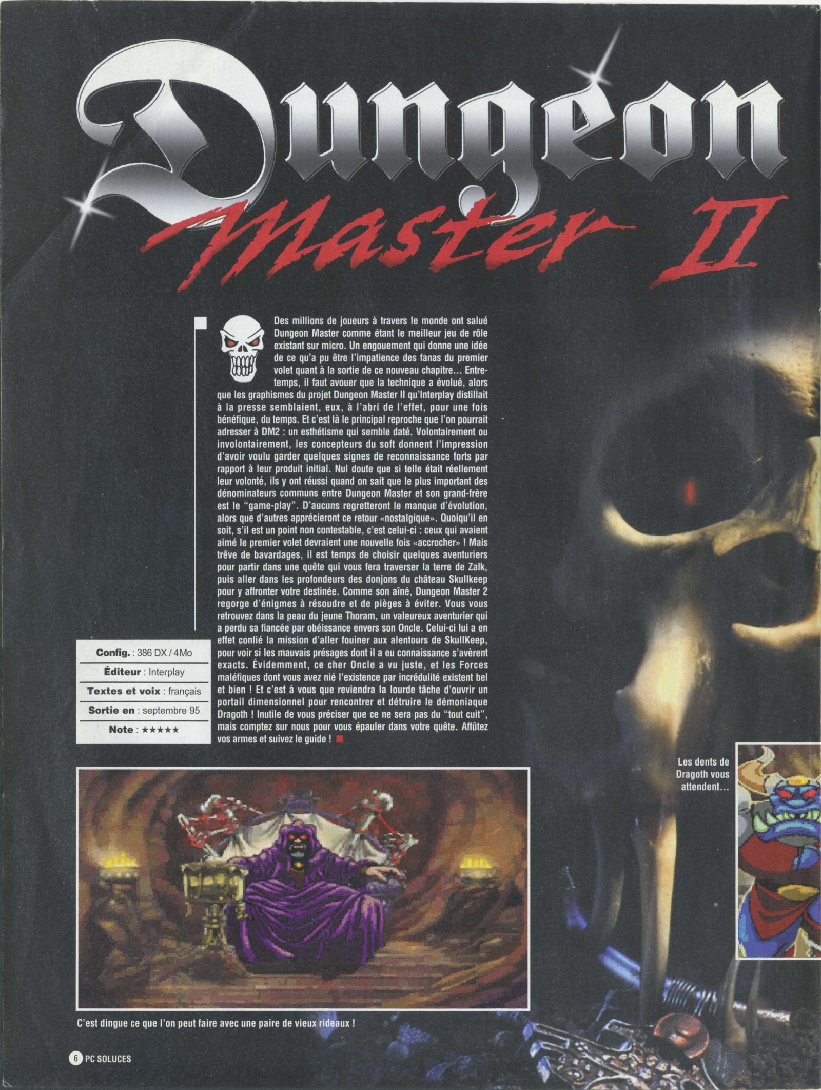 Dungeon Master II solution published in French magazine &amp;#039;PC Soluces&amp;#039;, Issue#1, February-March 1996, Page06