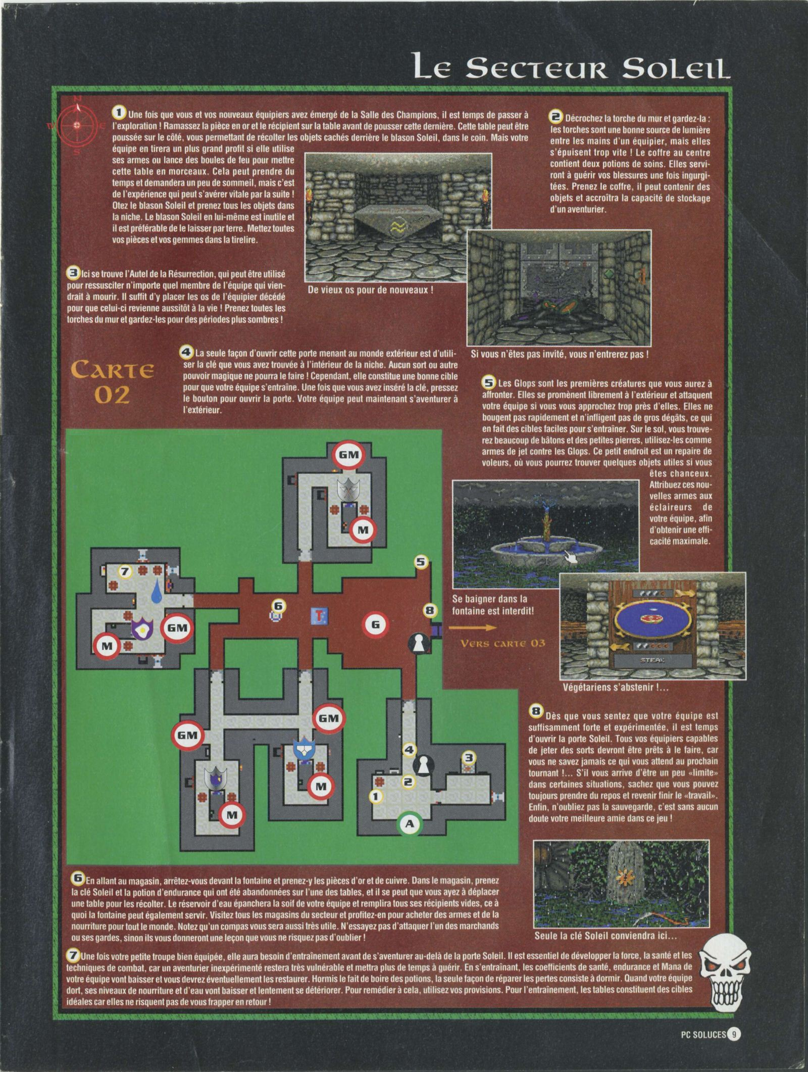 Dungeon Master II solution published in French magazine &amp;#039;PC Soluces&amp;#039;, Issue#1, February-March 1996, Page09