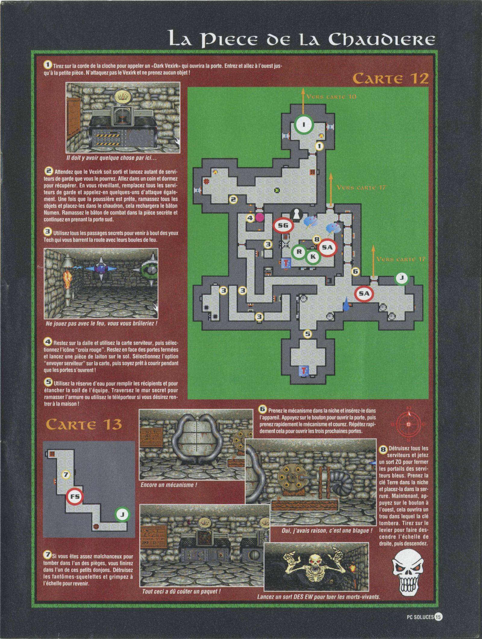 Dungeon Master II solution published in French magazine 'PC Soluces', Issue#1, February-March 1996, Page15