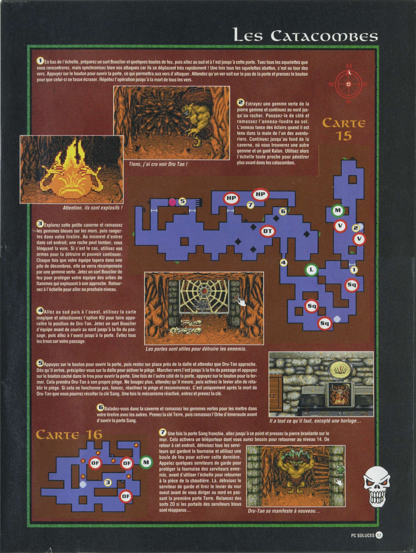 Dungeon Master II solution published in French magazine 'PC Soluces', Issue#1, February-March 1996, Page17