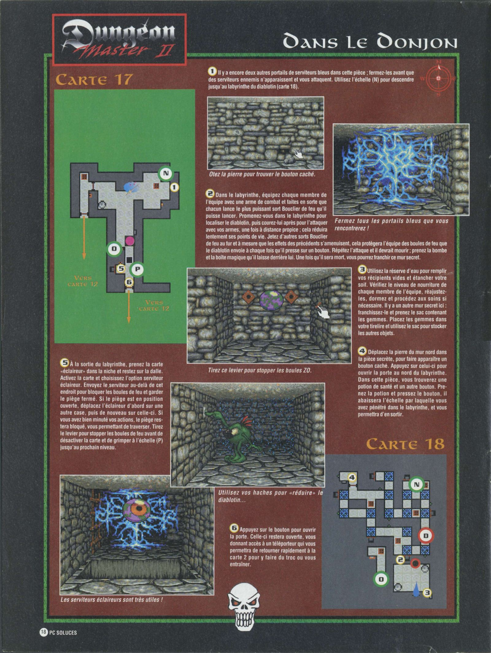 Dungeon Master II solution published in French magazine &amp;#039;PC Soluces&amp;#039;, Issue#1, February-March 1996, Page18
