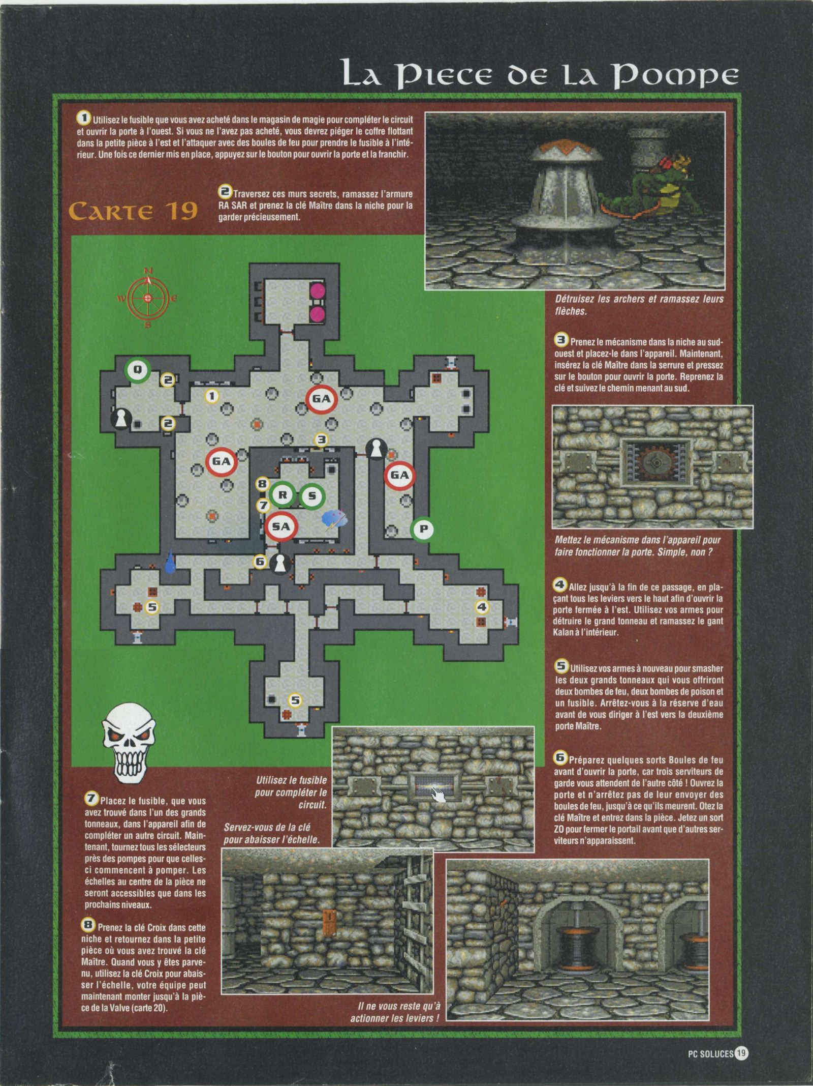 Dungeon Master II solution published in French magazine &amp;#039;PC Soluces&amp;#039;, Issue#1, February-March 1996, Page19