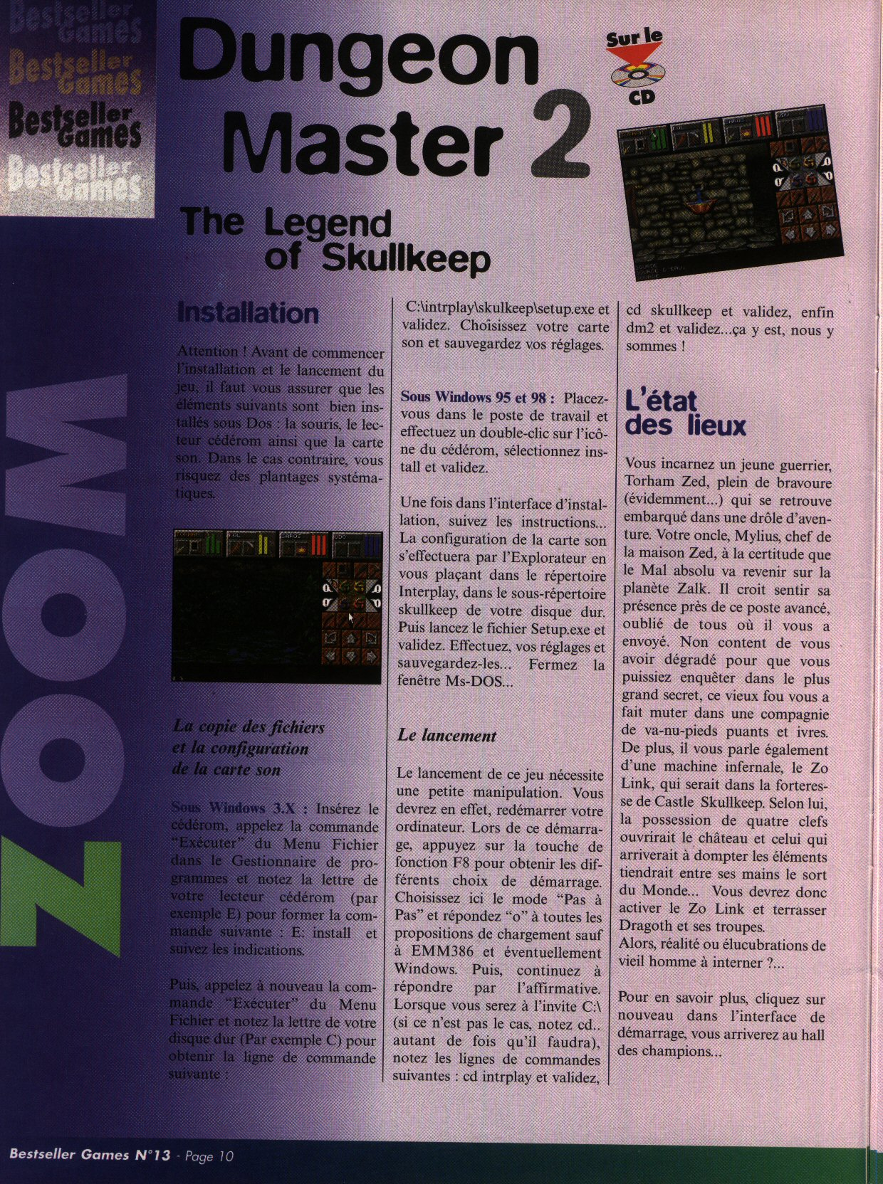 Dungeon Master II for PC (French) - CD version from French magazine 'Best Seller Games' Issue #13, September 1998 - Page 10