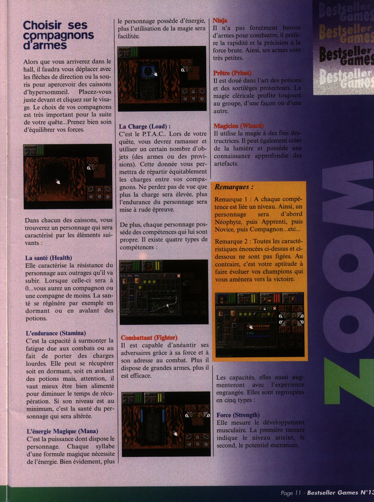 Dungeon Master II for PC (French) - CD version from French magazine 'Best Seller Games' Issue #13, September 1998 - Page 11