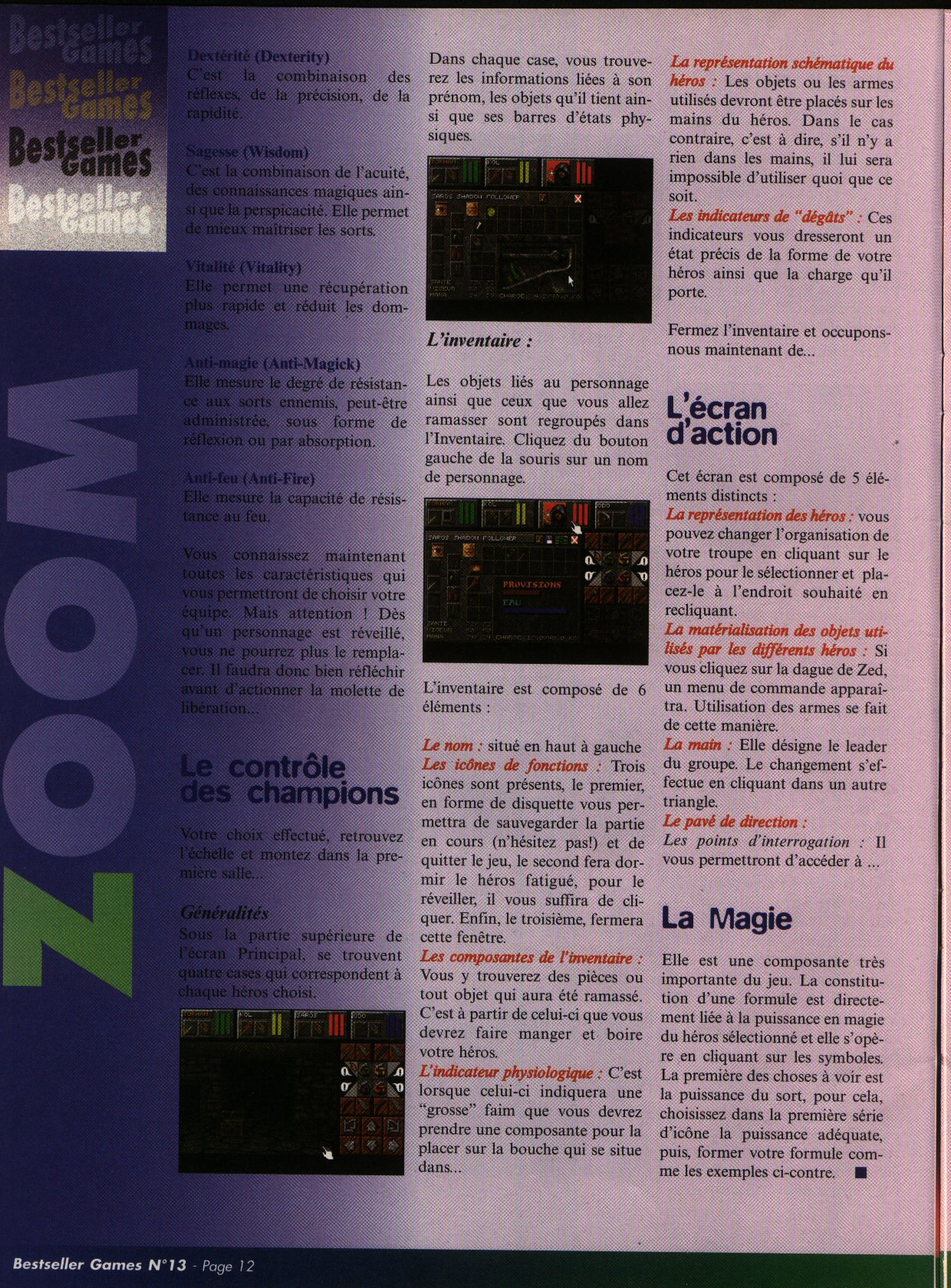 Dungeon Master II for PC (French) - CD version from French magazine 'Best Seller Games' Issue #13, September 1998 - Page 12