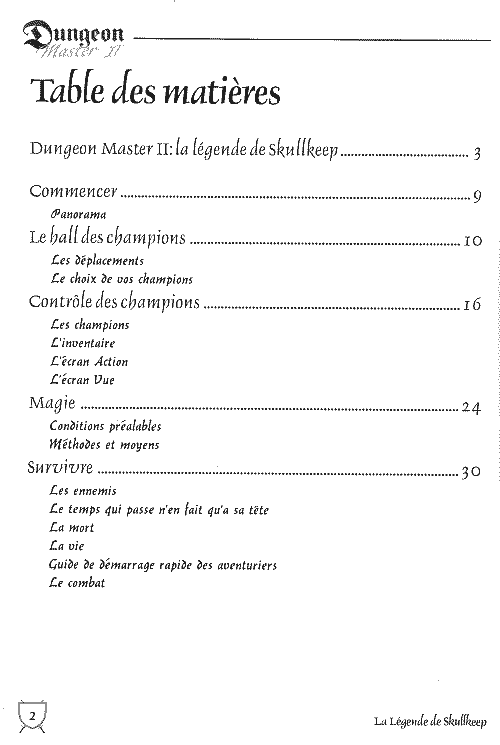 Page 2 (Contents)