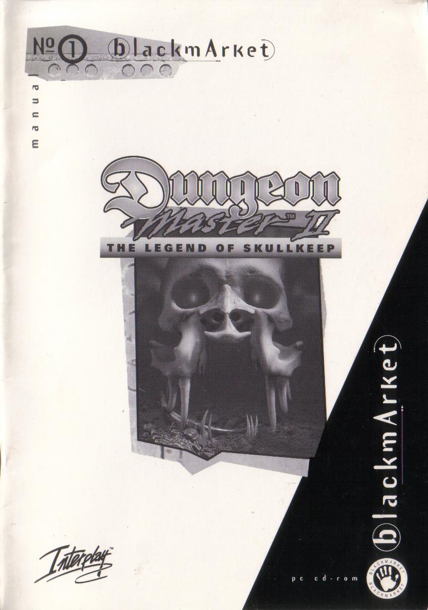 Dungeon Master II for PC (Blackmarket) Manual - Front Cover