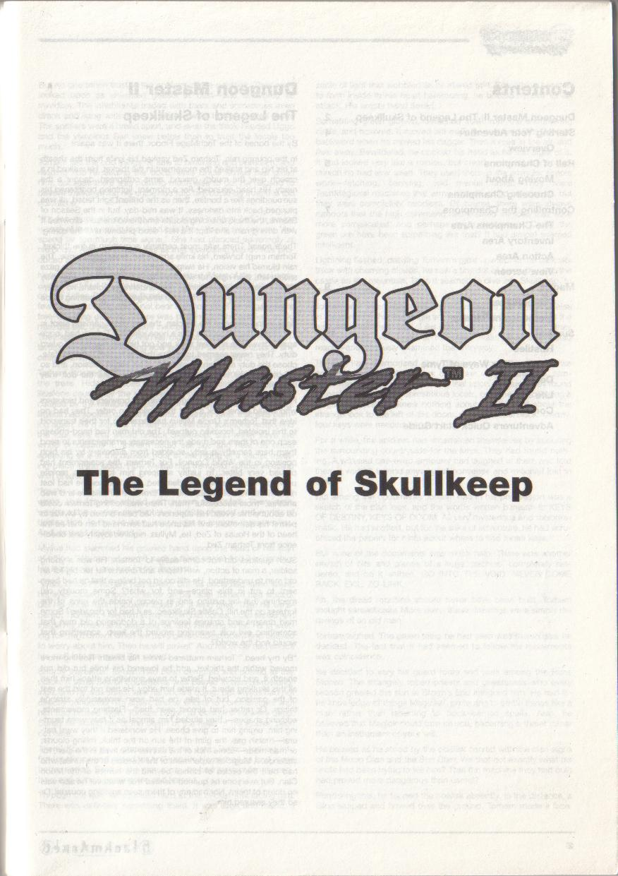 Dungeon Master II for PC (Blackmarket) Manual - Title