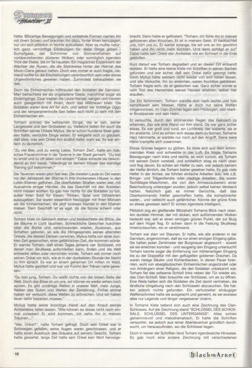 Dungeon Master II for PC (Blackmarket) Manual - Page 16