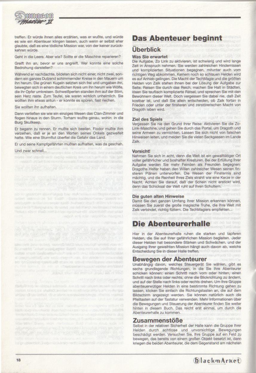 Dungeon Master II for PC (Blackmarket) Manual - Page 18