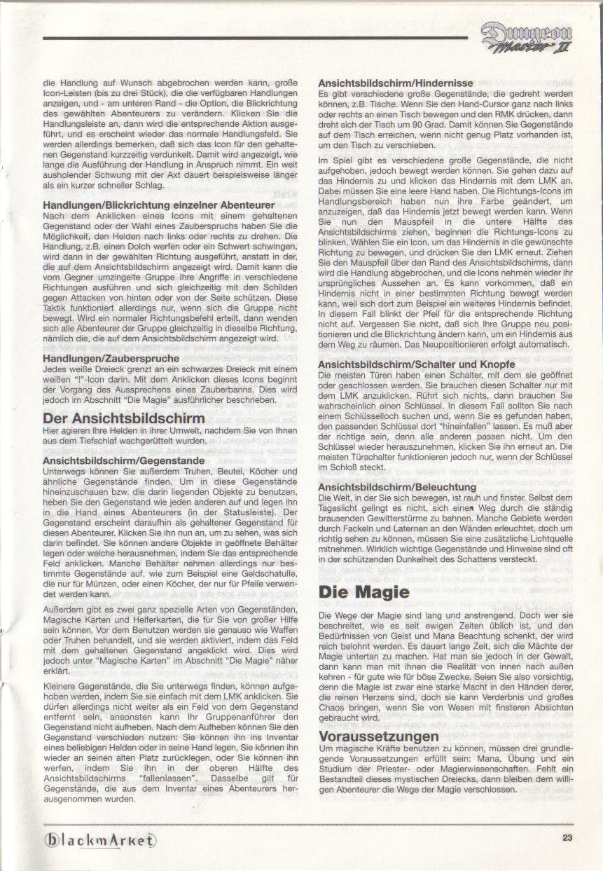 Dungeon Master II for PC (Blackmarket) Manual - Page 23