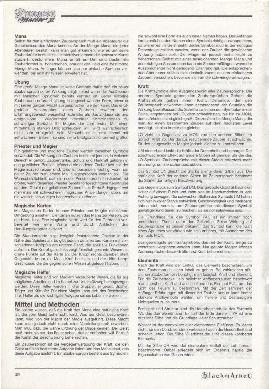 Dungeon Master II for PC (Blackmarket) Manual - Page 24