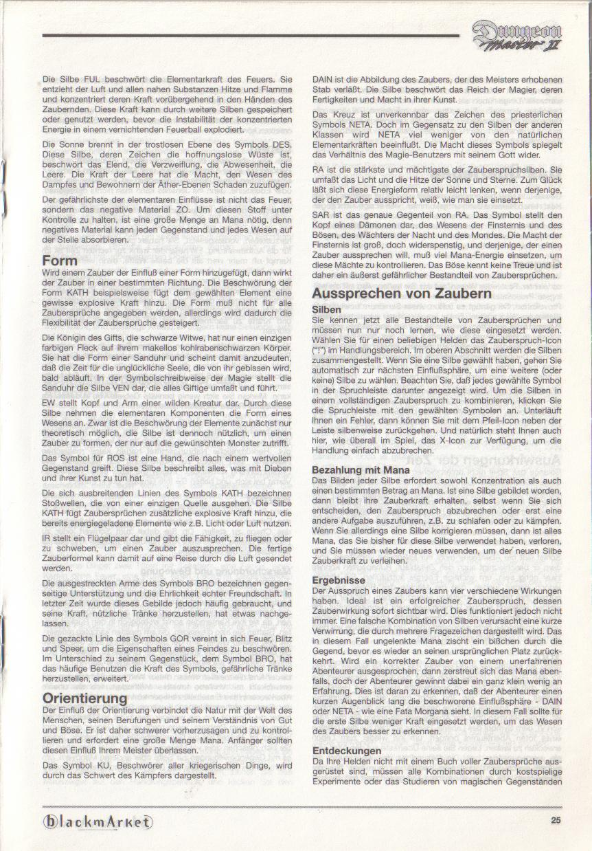 Dungeon Master II for PC (Blackmarket) Manual - Page 25