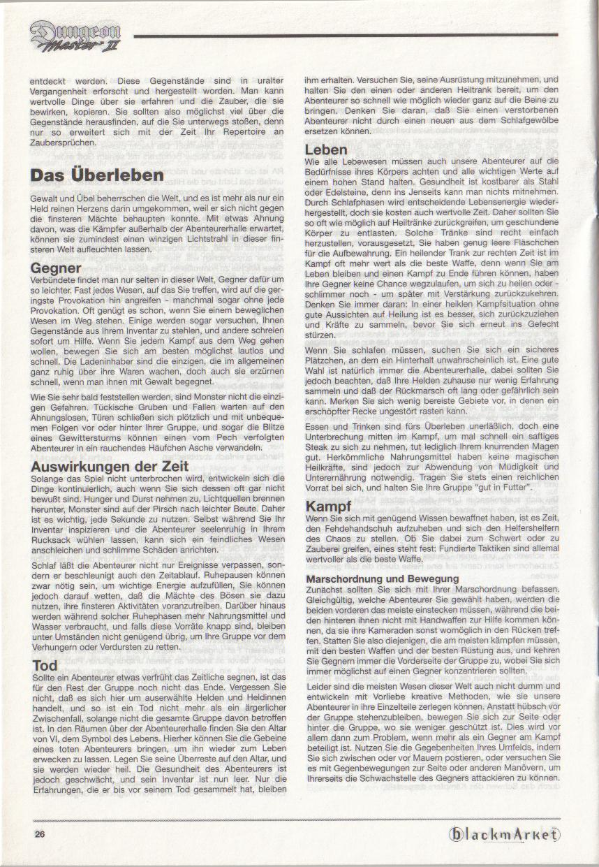 Dungeon Master II for PC (Blackmarket) Manual - Page 26