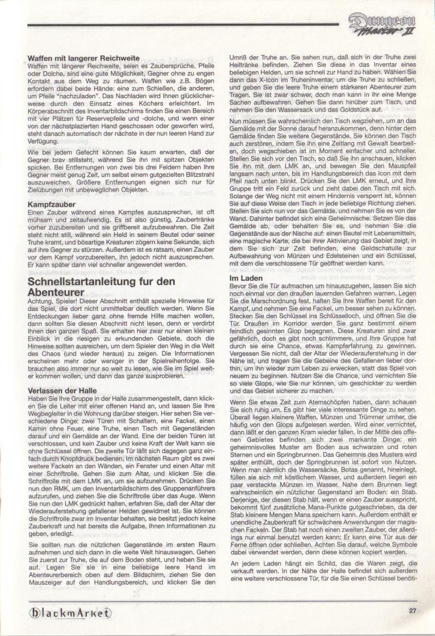 Dungeon Master II for PC (Blackmarket) Manual - Page 27
