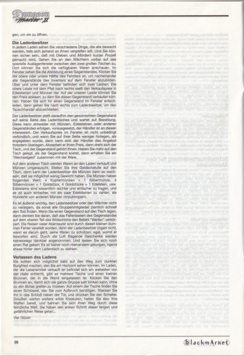 Dungeon Master II for PC (Blackmarket) Manual - Page 28