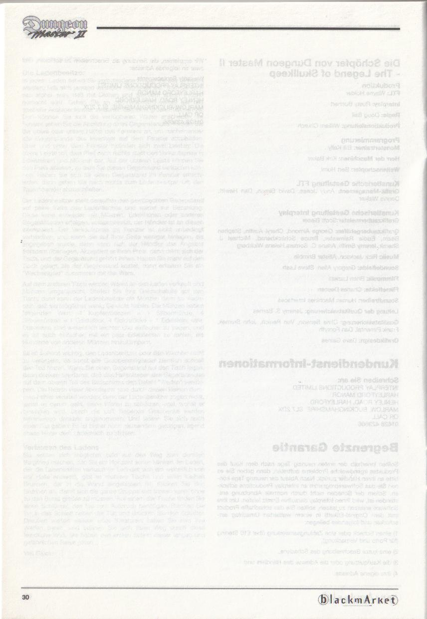 Dungeon Master II for PC (Blackmarket) Manual - Page 30