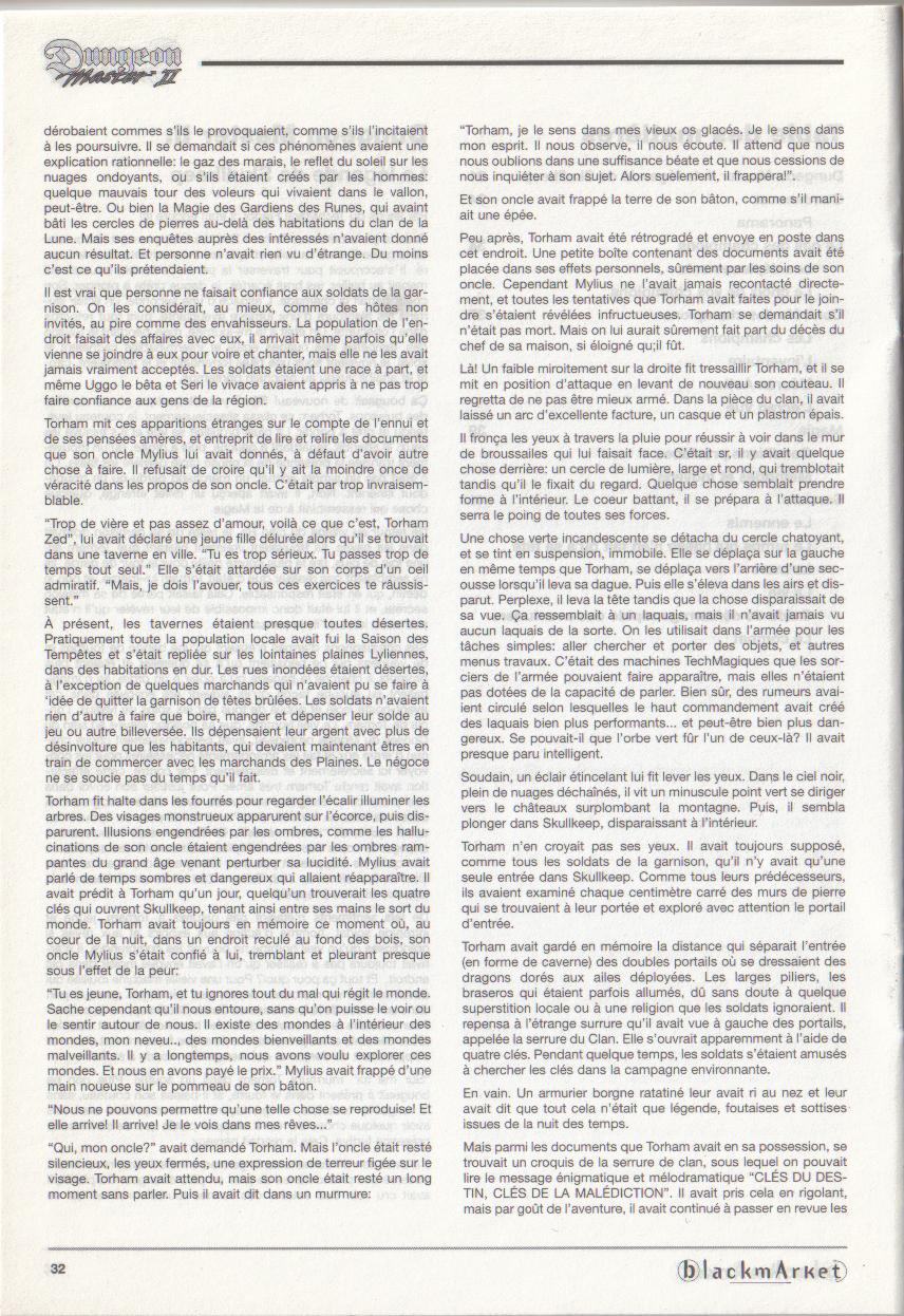 Dungeon Master II for PC (Blackmarket) Manual - Page 32