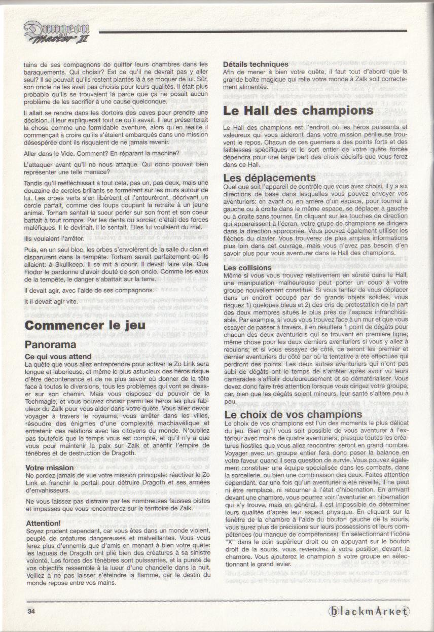 Dungeon Master II for PC (Blackmarket) Manual - Page 34