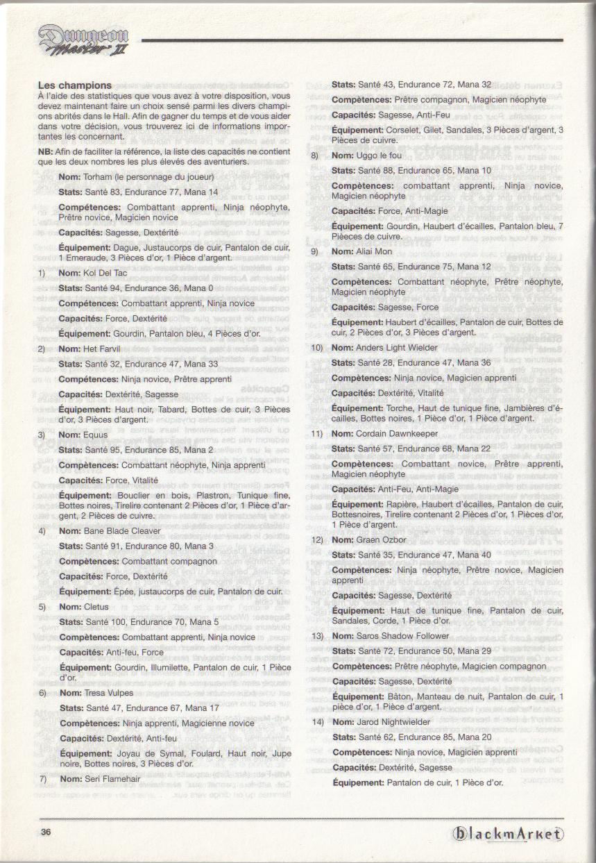 Dungeon Master II for PC (Blackmarket) Manual - Page 36
