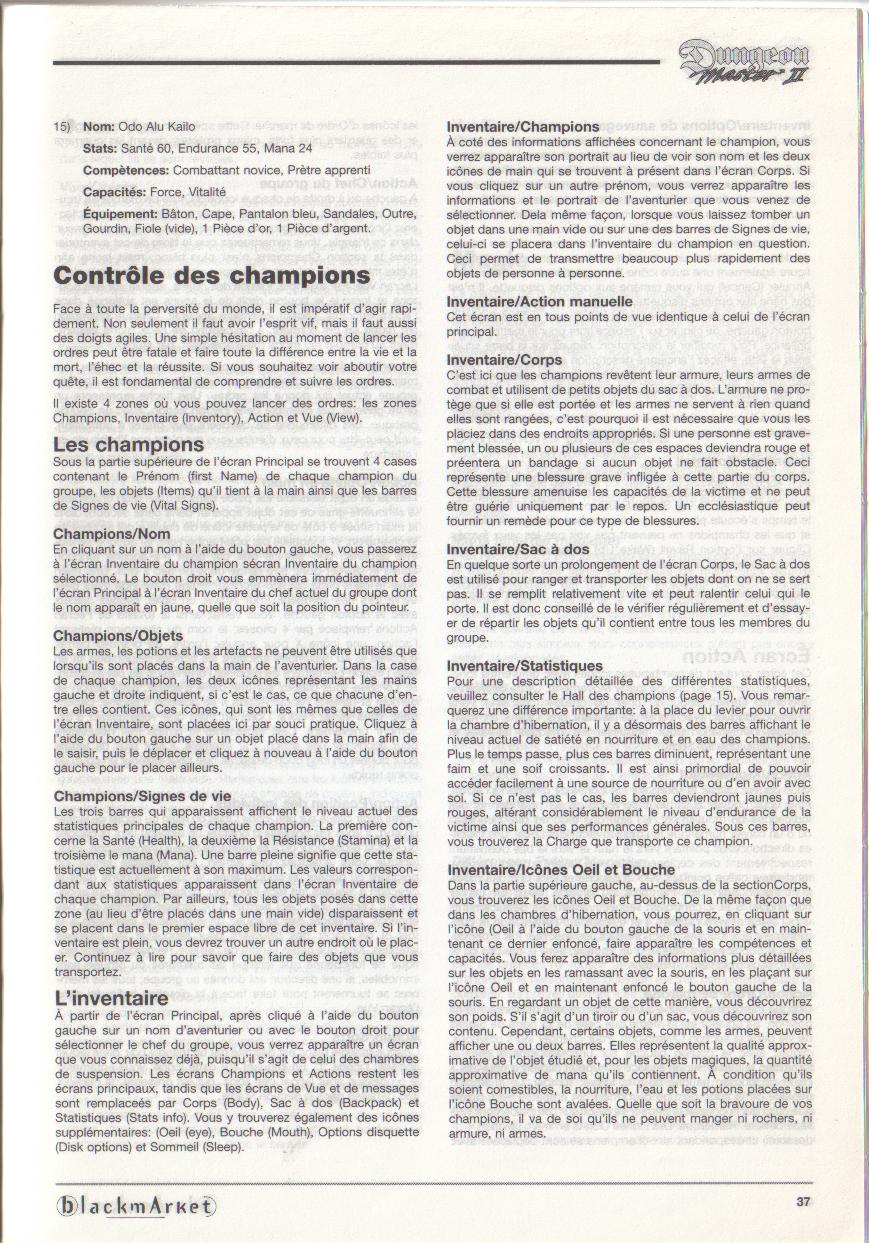 Dungeon Master II for PC (Blackmarket) Manual - Page 37