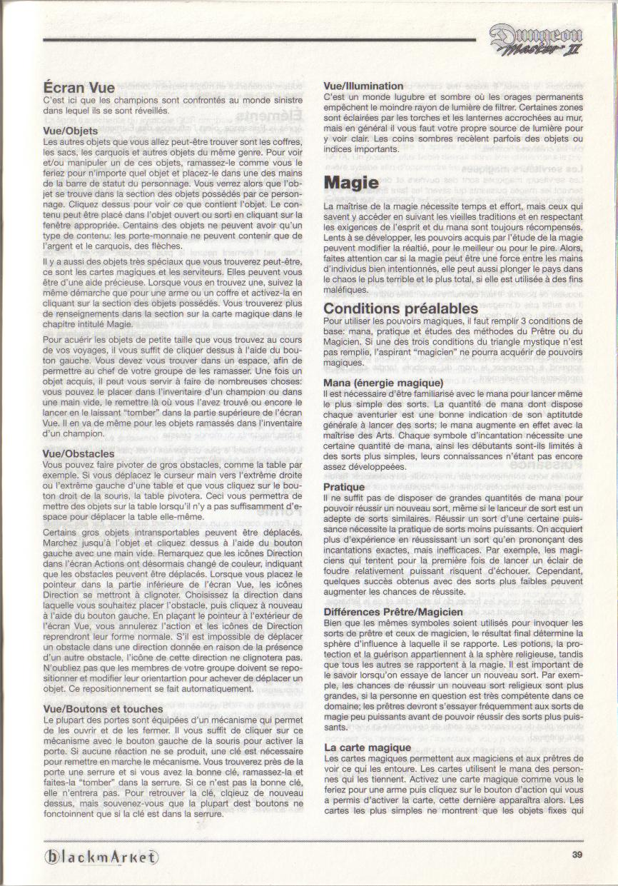 Dungeon Master II for PC (Blackmarket) Manual - Page 39
