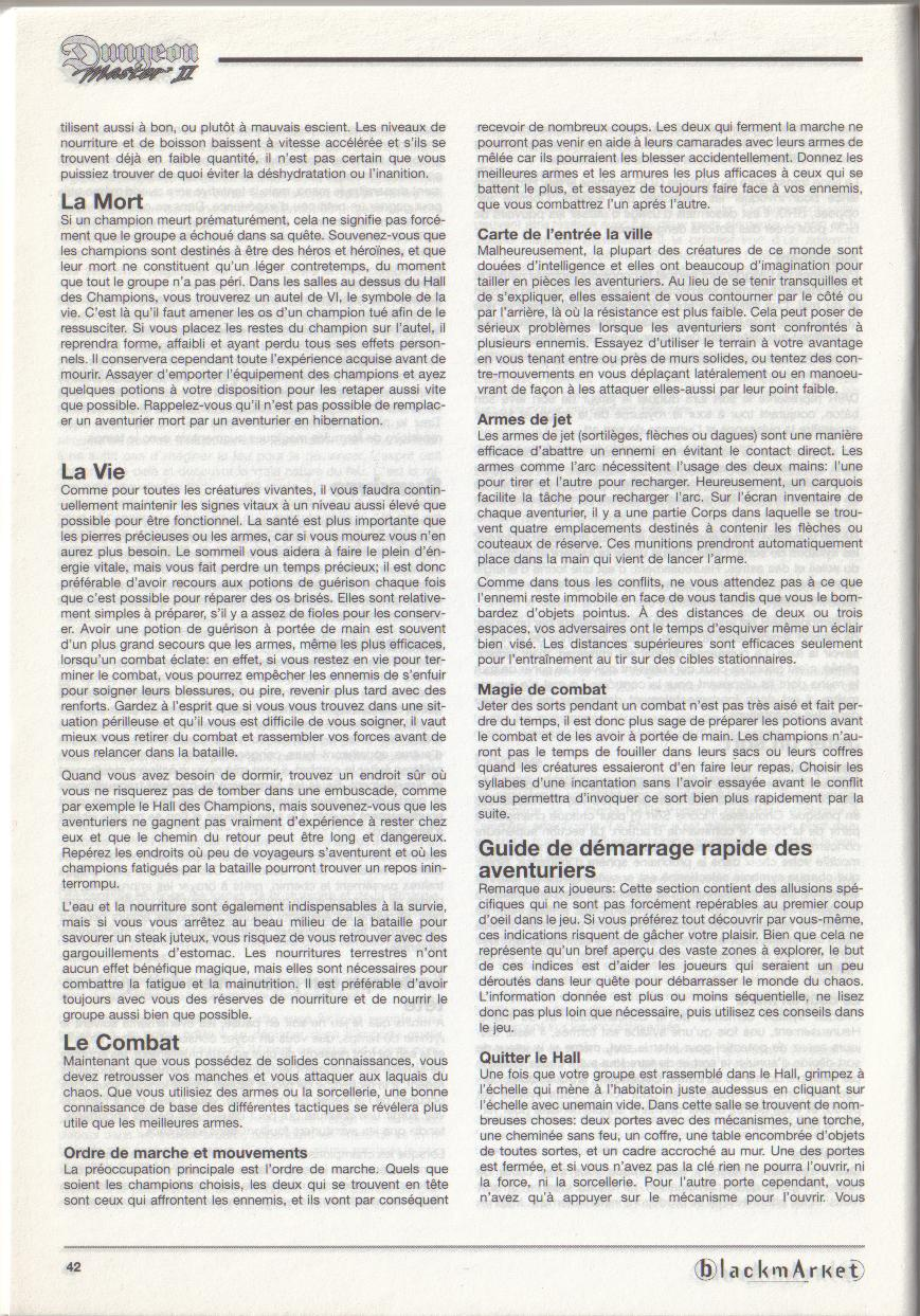 Dungeon Master II for PC (Blackmarket) Manual - Page 42