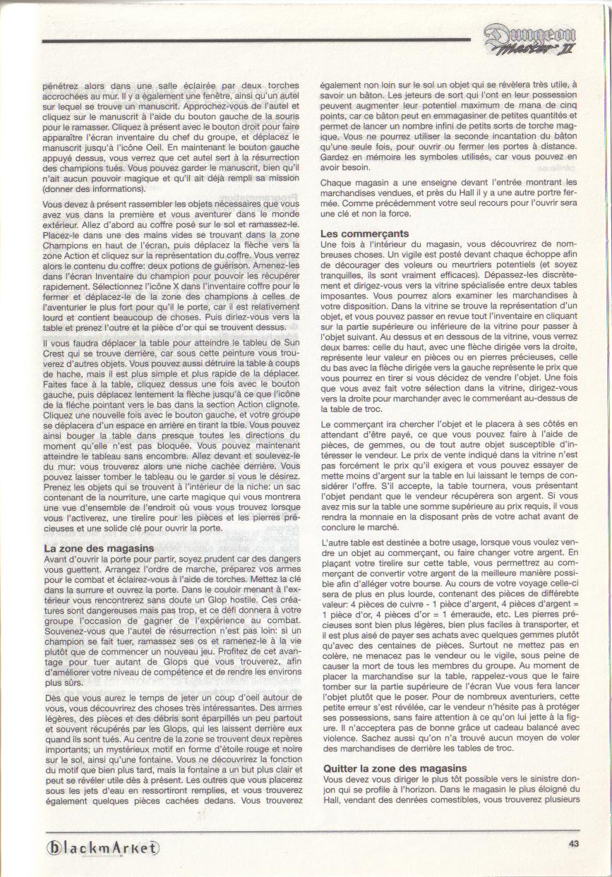 Dungeon Master II for PC (Blackmarket) Manual - Page 43