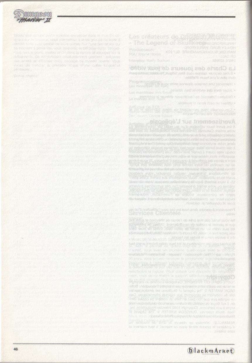 Dungeon Master II for PC (Blackmarket) Manual - Page 46