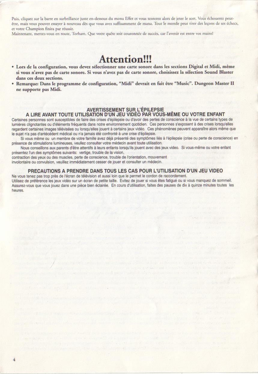 Dungeon Master II for PC (Blackmarket) Reference Card - Page 4