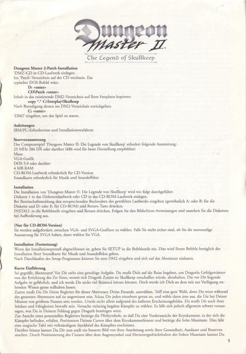 Dungeon Master II for PC (Blackmarket) Reference Card - Page 5