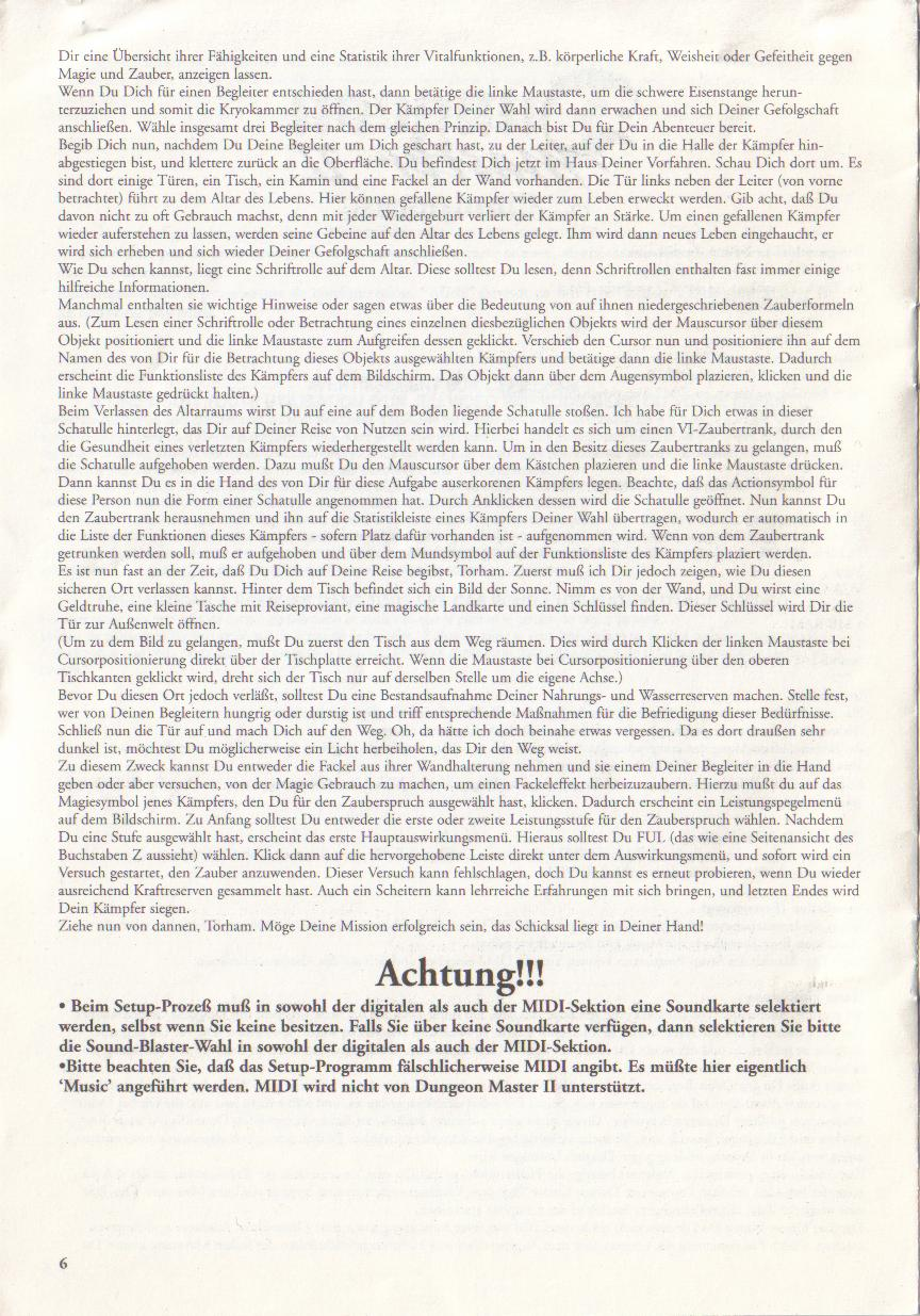 Dungeon Master II for PC (Blackmarket) Reference Card - Page 6