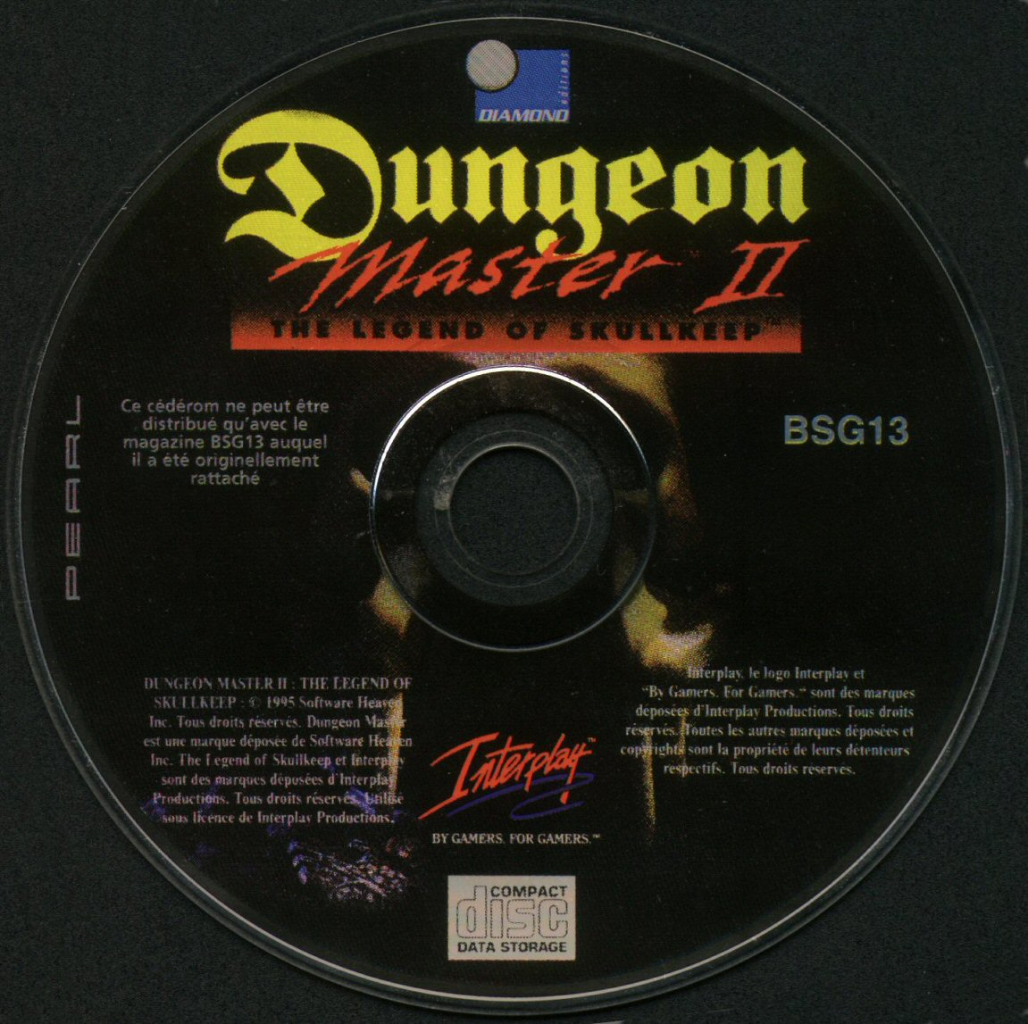 Dungeon Master II for PC (French) - CD version from French magazine 'Best Seller Games' Issue #13, September 1998 - CD