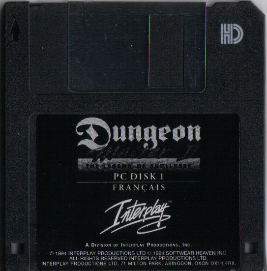 Dungeon Master II for PC - French Floppy Disk 1