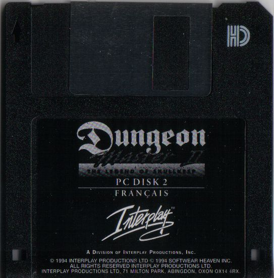Dungeon Master II for PC - French Floppy Disk 2